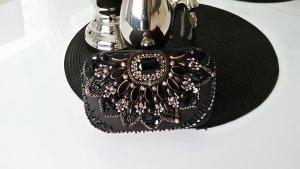 Accessorize Clutch black-silver-colored