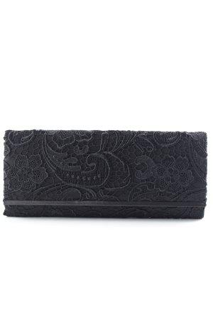 Accessorize Bolso de mano negro estampado floral elegante