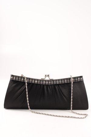 Accessorize Clutch black-silver-colored elegant