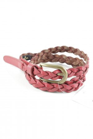 Accessorize Braided Belt dark red cable stitch casual look