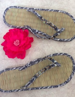 Accessorize Chanclas azul-blanco