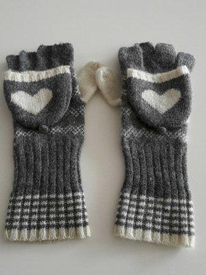 Accessorize graue Fingerlose Handschuhe