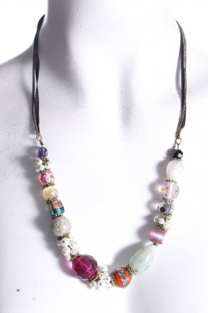 Accessorize necklace colorful adjustable with stones