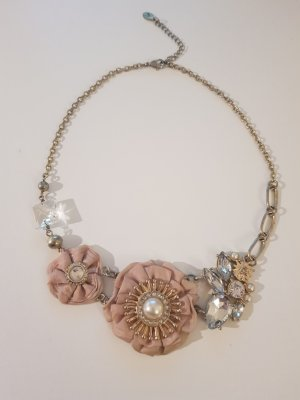 Accessorize Statement Necklace gold-colored-pink