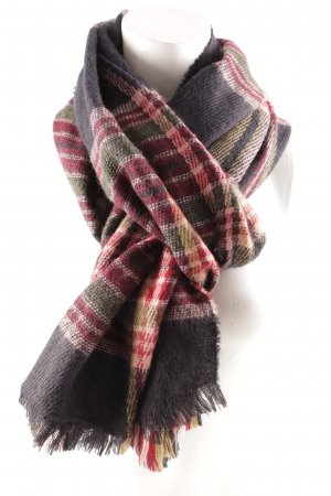 Accessorize Knitted Scarf check pattern classic style