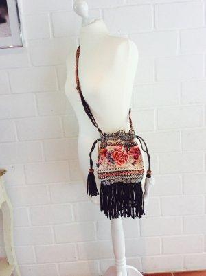 Accessorize Tasche Beuteltasche Folklore Ethno  mit Fransen NEU
