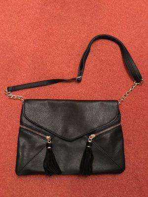 Accessorize Tasche Clutch, schwarz mit Tasseln