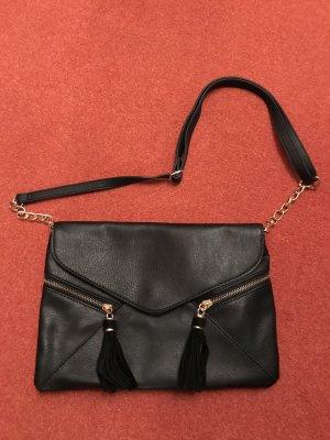 Accessorize Tasche Clutch schwarz, mit Tasseln