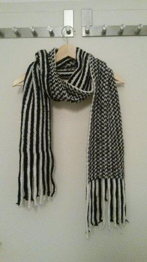 Accessorize XXL Schal, Strick, schwarz-weiß