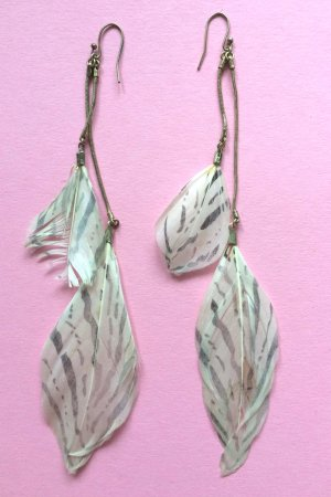 Accessorize Zebra Print Earrings