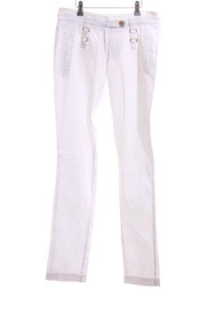 Acciaio High Waist Trousers white casual look
