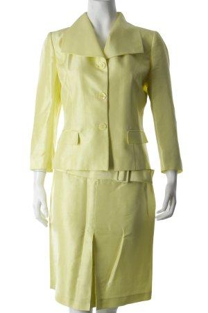 Acciaio Tailleur jaune fluo style d'affaires