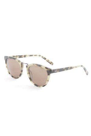 Ace & Tate Retro Glasses sage green-dark brown animal pattern