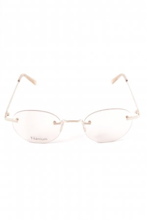 Ace & Tate Round Sunglasses natural white casual look