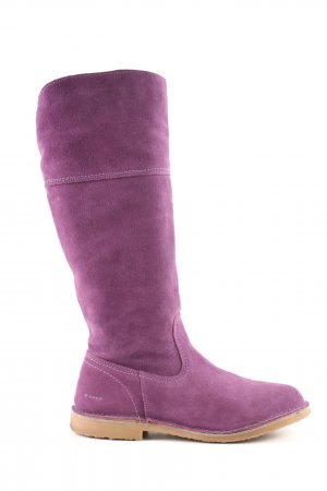 Aces of London Wide Calf Boots lilac casual look