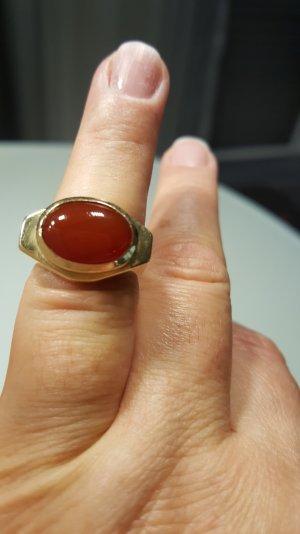 Achat Stein Ring 585 Gold. Gr. 55