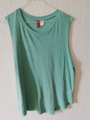 H&M Divided Muscle Shirt mint viscose