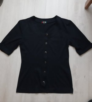 Chaleco deportivo negro tejido mezclado