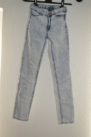Acid washed Jeans gebleicht 80er 90er High Waist