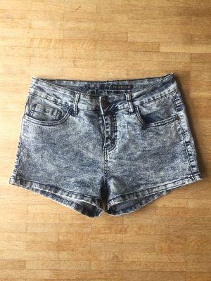 Acid Washed Jeansshorts, high waisted, Gr. M