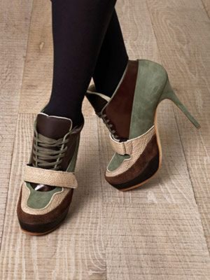 Acne Ace lace-up high heels Wildleder Booties