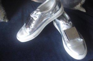 Acne Adriana Sneaker Metallic silver Silber