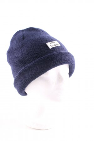 Acne Beanie blau Casual-Look