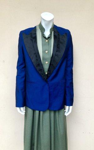 Acne Blazer de esmoquin negro-azul Lana