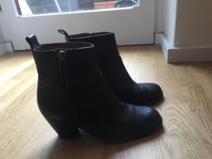 Acne Low boot noir cuir