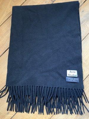 Acne Bufanda de flecos negro