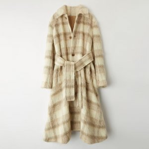 ACNE Checked Coat, Mantel, Mohair, Alpaka