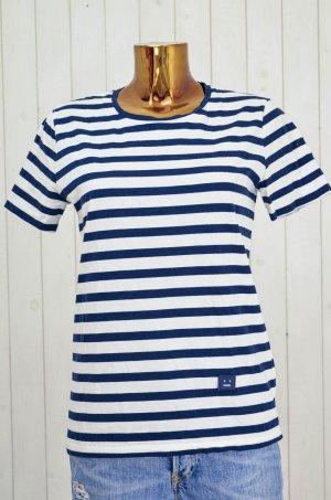 ACNE Damen T-Shirt Baumwolle Streifen Oversized Blau Weiß Mod. Rigoletto Gr.XS