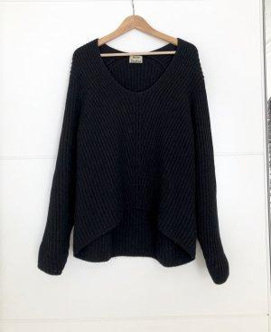 Acne Maglione di lana nero Lana
