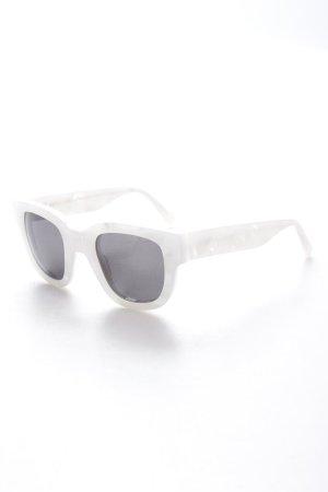 Acne eckige Sonnenbrille weiß Schimmer-Optik