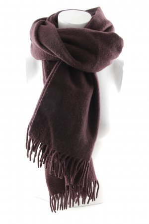 Acne Fringed Scarf blackberry-red casual look