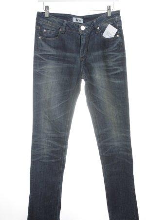 Acne Jeans taille basse bleu foncé style mode des rues