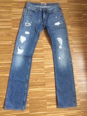 Acne Jeans a vita alta blu Cotone