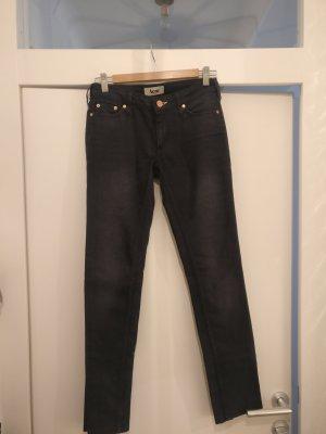 Acne Jeans met rechte pijpen donkerblauw
