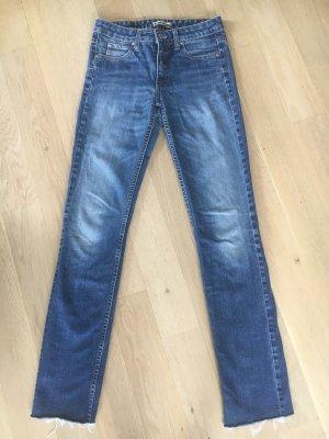 Acne Jeans coupe-droite bleu-bleu azur