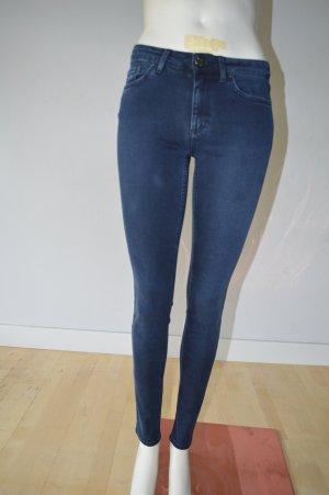 Acne Jeans cigarette bleu coton