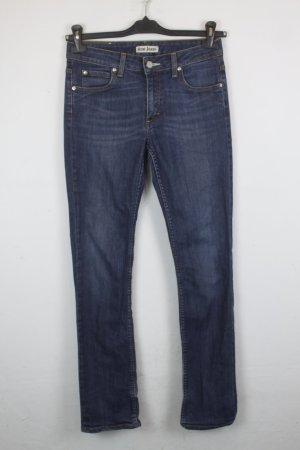 Acne Jeans bleu acier-bleu foncé coton