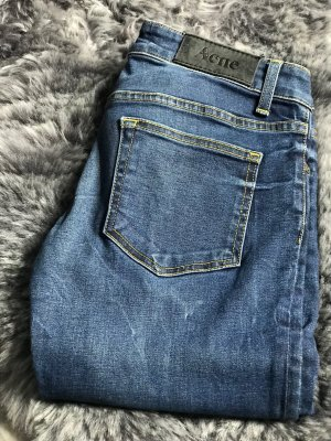 Acne Jeans slim fit blu Cotone