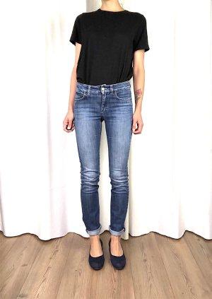 Acne Jeans slim bleu coton