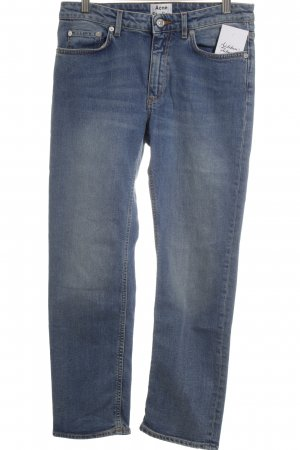 Acne Jeans High Waist Jeans blau College-Look