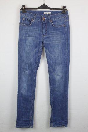 Acne Jeans bleu azur-bleu acier coton