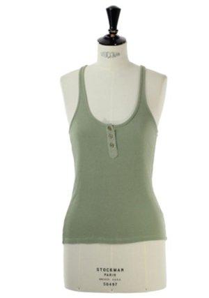 Acne Jeans Mintgrünes Tank Top Shirt Basic Lala Berlin
