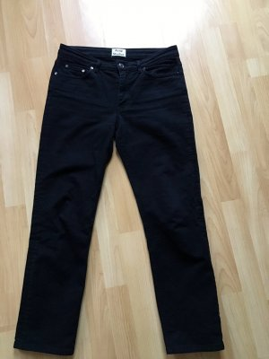 Acne Jeans a 7/8 nero Cotone