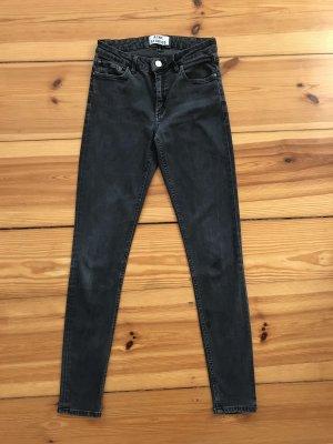 Acne Jeans skinny nero-grigio