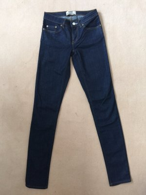 Acne Jeans - skinny, dunkelblau, raw denim