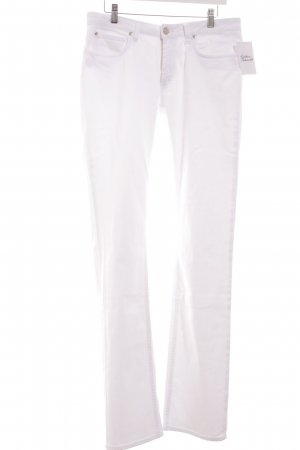 Acne Vaquero rectos blanco look casual